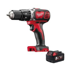 toptopdeal Milwaukee M18BPD-0 18V 60Nm RED Li-ion Combi Hammer Drill with 1 x M18B5 5
