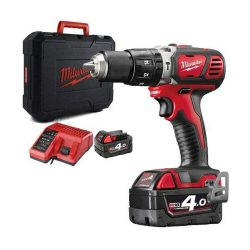 toptopdeal Milwaukee M18BPD-0 18v Combi Hammer Drill with 2 x 4
