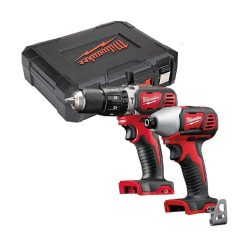 toptopdeal Milwaukee M18BPD 18v Combi Drill and M18BID Impact Driver Twin Pack with Case
