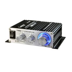 toptopdeal Mini Amplifier, Mochatopia Home Audio Stereo Hi-Fi Power Amplifier, 2 Chanel Digital Class D Powerful Bass Music Streaming Amp for Speaker PC TV Cell Phone...
