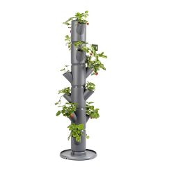 toptopdeal Sissi Strawberry - Planter - Pot - Plant Tower - Raised Bed for Strawberries - for Balcony- Garden and Patio - Plant Strawberries and Herbs (classic