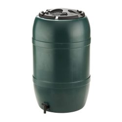 toptopdeal Strata Products Ltd Ward GN325 210L Water Butt including Tap and Lockable Lid - Green-black