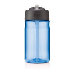 toptopdeal Thermos 101582 Hydration Water Bottle with Straw, Blue, 355 ml