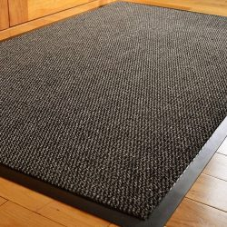 toptopdeal TrendMakers Barrier Mats Heavy Quality Non Slip Hard Wearing Barrier Ma- PVC Edged Heavy Duty Kitchen Mat Rug - Charcoal-Black - 60x120cm
