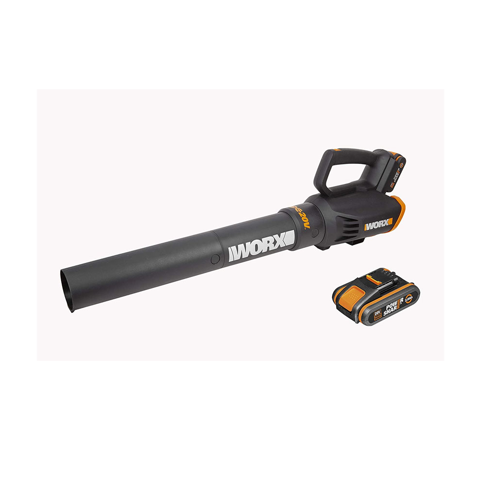 toptopdeal-WORX WG547E1 18V (20V MAX) Cordless Air Turbine Garden Leaf Blower With 2 Batteries