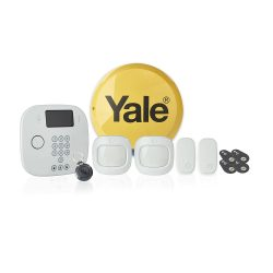 toptopdeal Yale IA-230 Intruder Alarm Plus Kit- Phone Call Alerts- 11 Piece Kit-Pet Friendly PIR Sensor- Door Sensor- Key Fob Control- Contactless Access Control