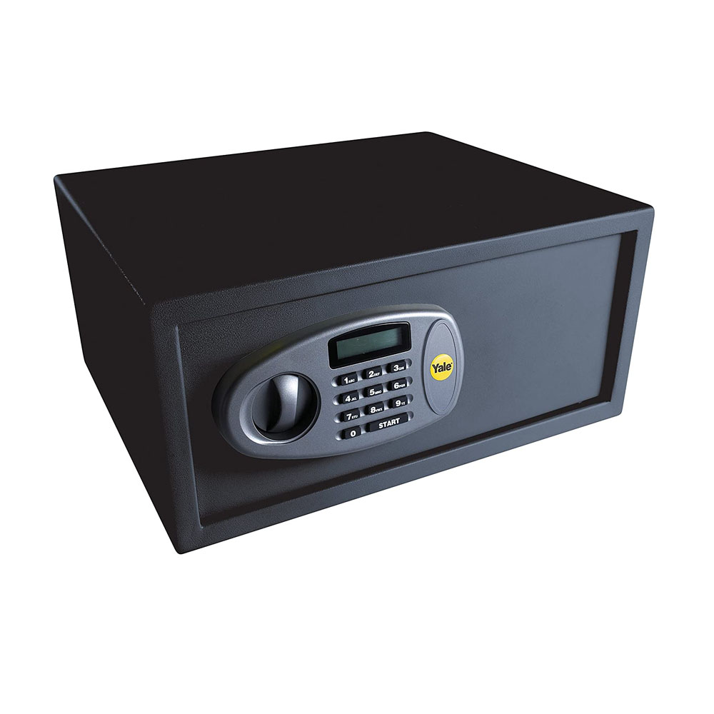 toptopdeal Yale Y-LTS0000 Laptop Digital Safe- Steel Construction- Steel Locking Bolts-LCD Display- Ideal For Laptop And Media Storage- Wall And Floor Fixings- Black