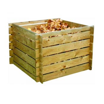 toptopdeal forestfox-Garden Wooden Compost Bin Recycling Waste Composter Composting Storage Mulch New