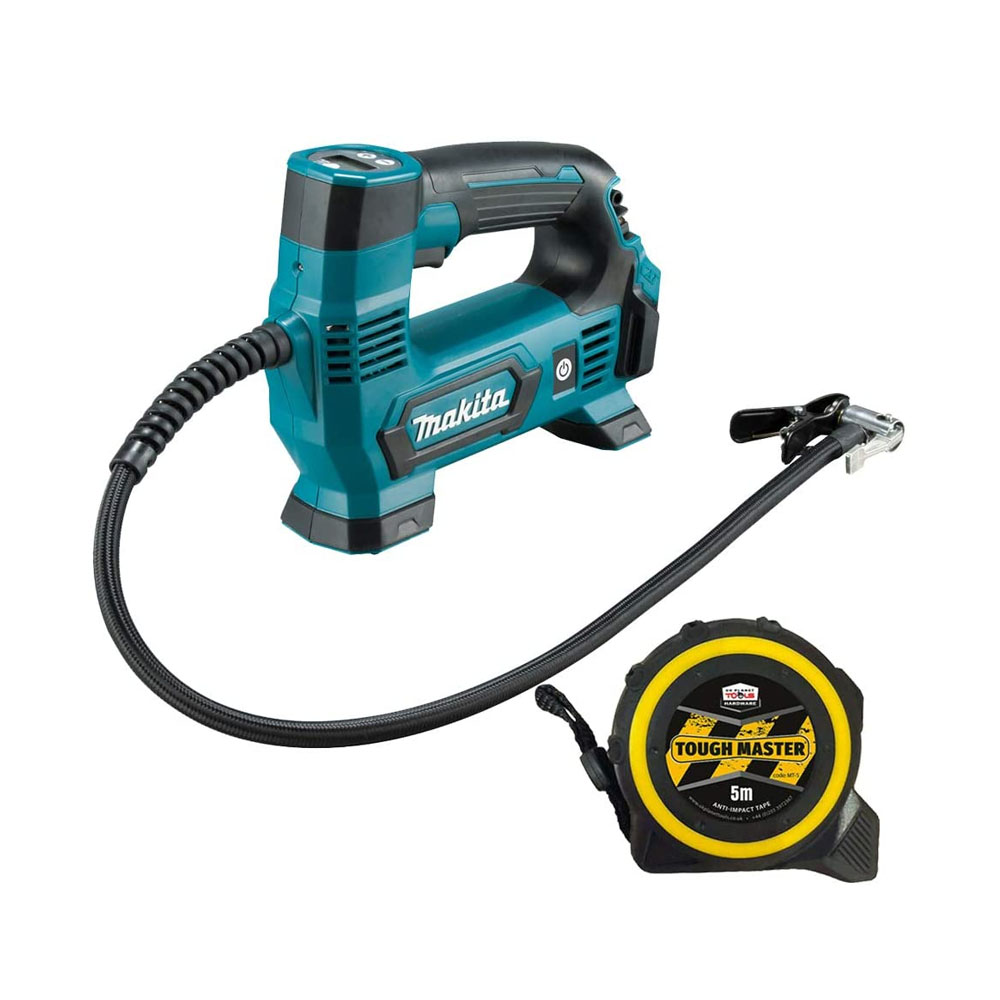 Toptopdeal Makita MP100 12V Max CXT Li-ion Inflator Digital with Free Tape Measures 5M-16ft