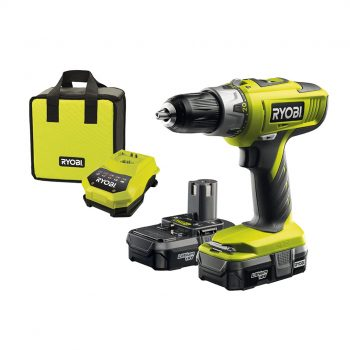 Toptopdeal Ryobi LLCDI18022 ONE+ 18V Cordless Percussion Dril-Driver with 2x 1