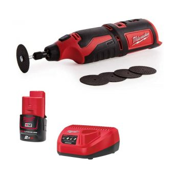 Toptopdeal uk Milwaukee C12RT-0 12V Rotary Multi Tool 1 x 2Ah Battery M12B2 Charger