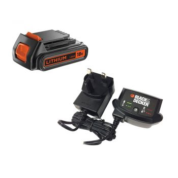 toptopdeal Black and Decker Genuine 18v Li-ion Battery and Charger Pack 1-5ah 240v