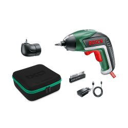 toptopdeal Bosch IXO V Cordless Screwdriver, with Charger and 10 Screw Bits, Green, 06039A8001, 3