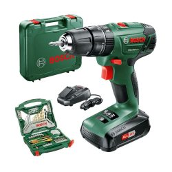 toptopdeal Bosch PSB 1800 LI-2 Cordless Combi Drill with two 18 V Lithium-Ion Battery with a 70 Piece Accessory Set