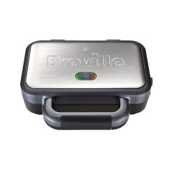 toptopdeal-Breville Deep Fill Sandwich Toaster and Toastie Maker with Removable Plates, Non-Stick, Stainless Steel [VST041]