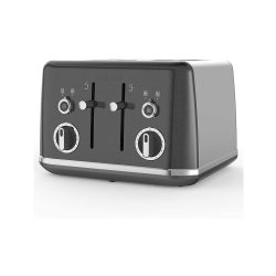 toptopdeal-Breville Lustra 4-Slice Toaster with High Lift, Wide Slots and Independent 2-Slice Controls, Storm Grey [VTT853]