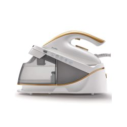toptopdeal-Breville PressXpress Steam Generator Iron 2400 W Ceramic Soleplate Detachable Water Tank White & Satin Gold [VIN410]