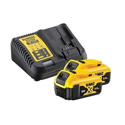 toptopdeal DEWALT B DCB184 5-0ah 18v XR Lithium Ion Battery Twin Pack + DCB115 Charger- Yellow
