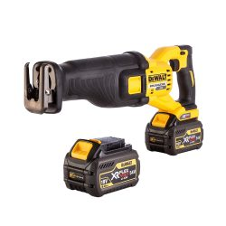 toptopdeal-DEWALT DCS388T2-GB TL18913 XR Kitted Reciprocating Saw 18 W 54 V Yellow Black, Large Set of 5 Pieces