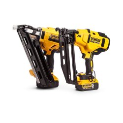 toptopdeal-Dewalt DCK264P2 DCK264P2-18V-XR Cordless Li-Ion Brushless Nailer Twin Pack in Tough System Box, 18 V, Yellow Black, One Size