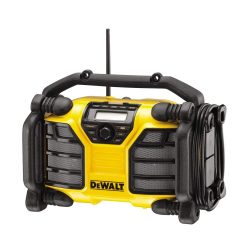 toptopdeal Dewalt DCR017-QW DCR017 Site Radio with Charger Function XR-Li-Ion Battery or Mains Operated, 230 V, Yellow