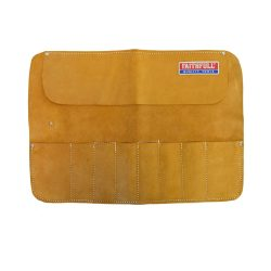 toptopdeal-Faithfull Leather Chisel Roll - 8 Pocket