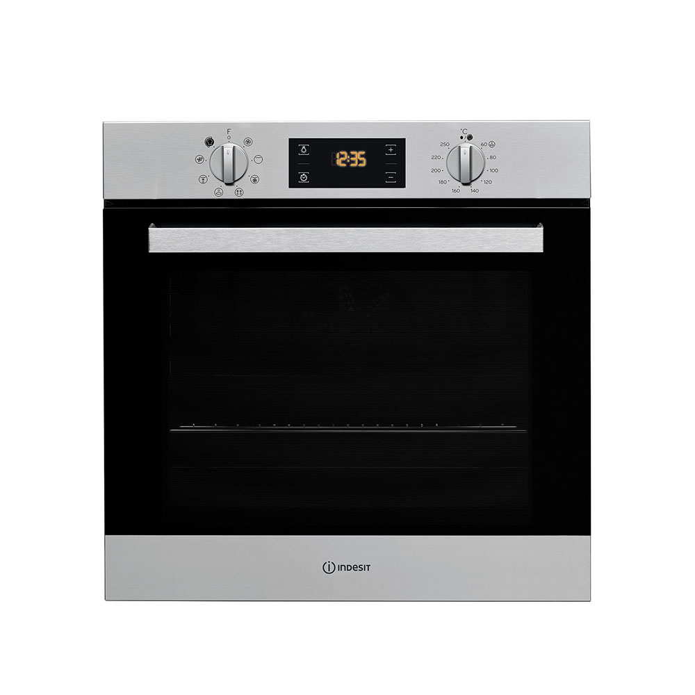 toptopdeal-Indesit IFW6340IX A Rated Built-In Electric Single Oven - Stainless Steel