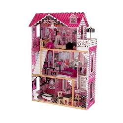 toptopdeal KidKraft 65093 Amelia Wooden Dolls House with Furniture and Accessories Included