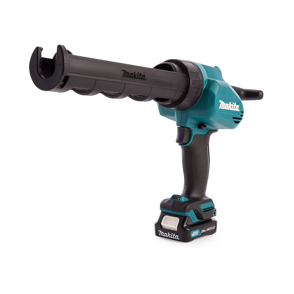 toptopdeal Makita CG100DWAEA 10.8V CXT Caulking Gun Complete with 2 x 2.0 Ah LI-ion Batteries and Charger in a Carry Case, 10