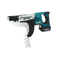 toptopdeal Makita DFR750RME 18 V Li-ion Auto Feed Screwdriver Complete with 2 x 4