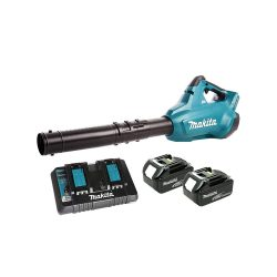 toptopdeal-Makita DUB362 Twin 18v Brushless Leaf Blower with 2 x 5ah Batteries & Charger