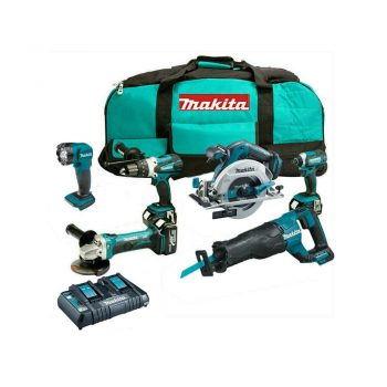 toptopdeal-Makita T4TKIT-223 6 Piece 18V Kit with Battery, Charger & 6pc Tool Bag