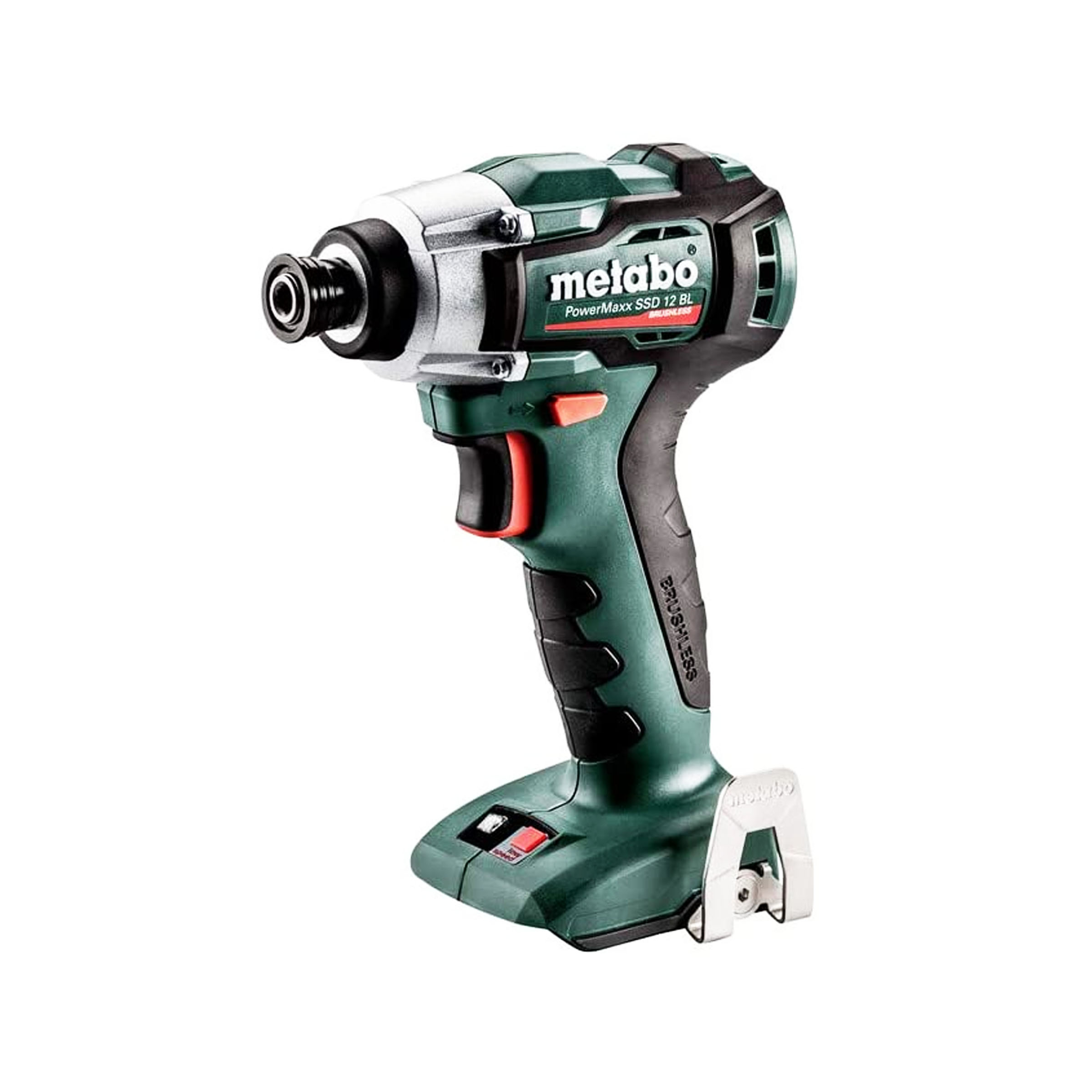 toptopdeal-Metabo 601115890 Rechargeable Impact Wrench SSD 12 BL (12 V Without Battery, with Work Light MetaLoc Case Insert, Belt Hook, Bit Depot Compact Design)