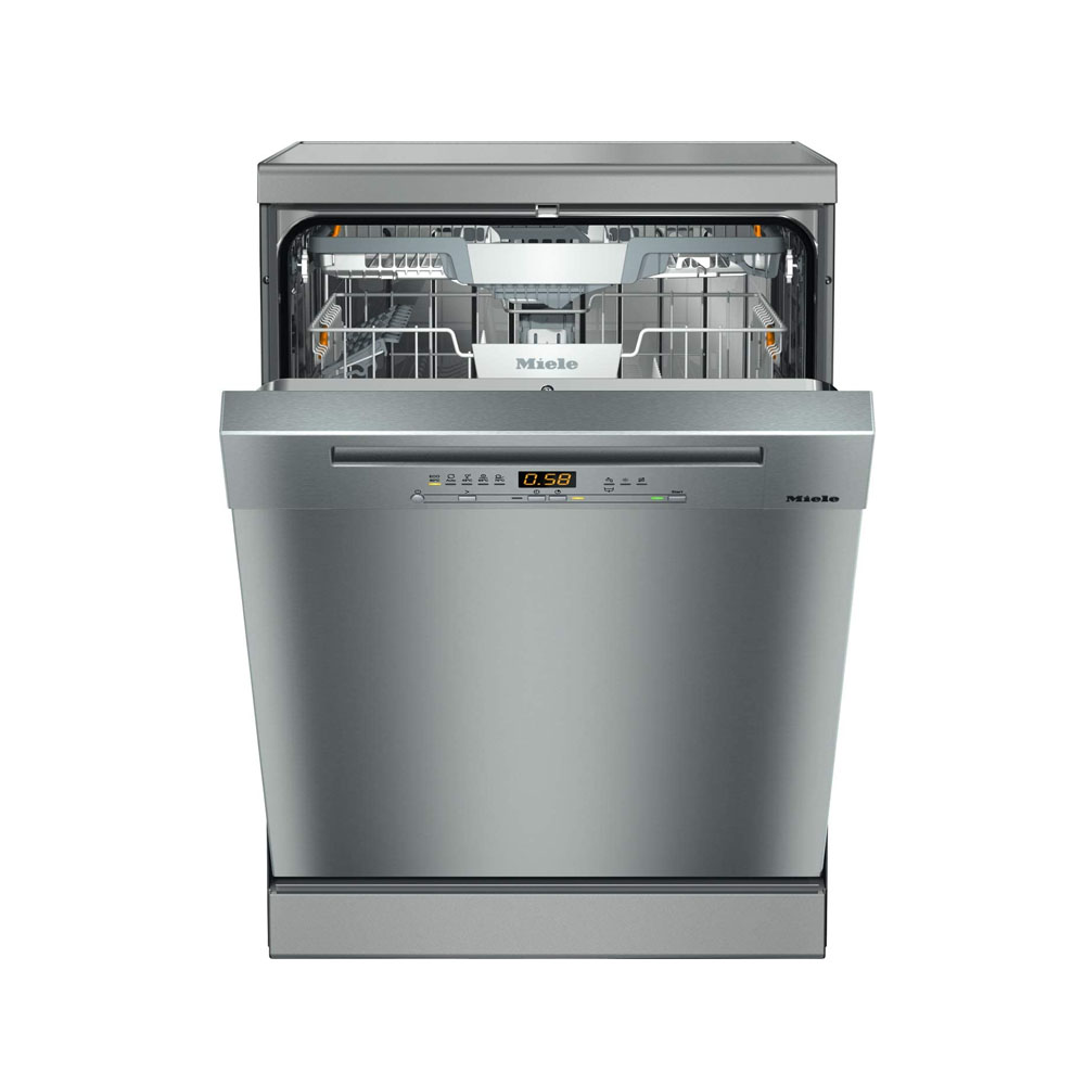 toptopdeal-Miele G5222SC Freestanding Dishwasher, 14 Place Settings, Clean Steel