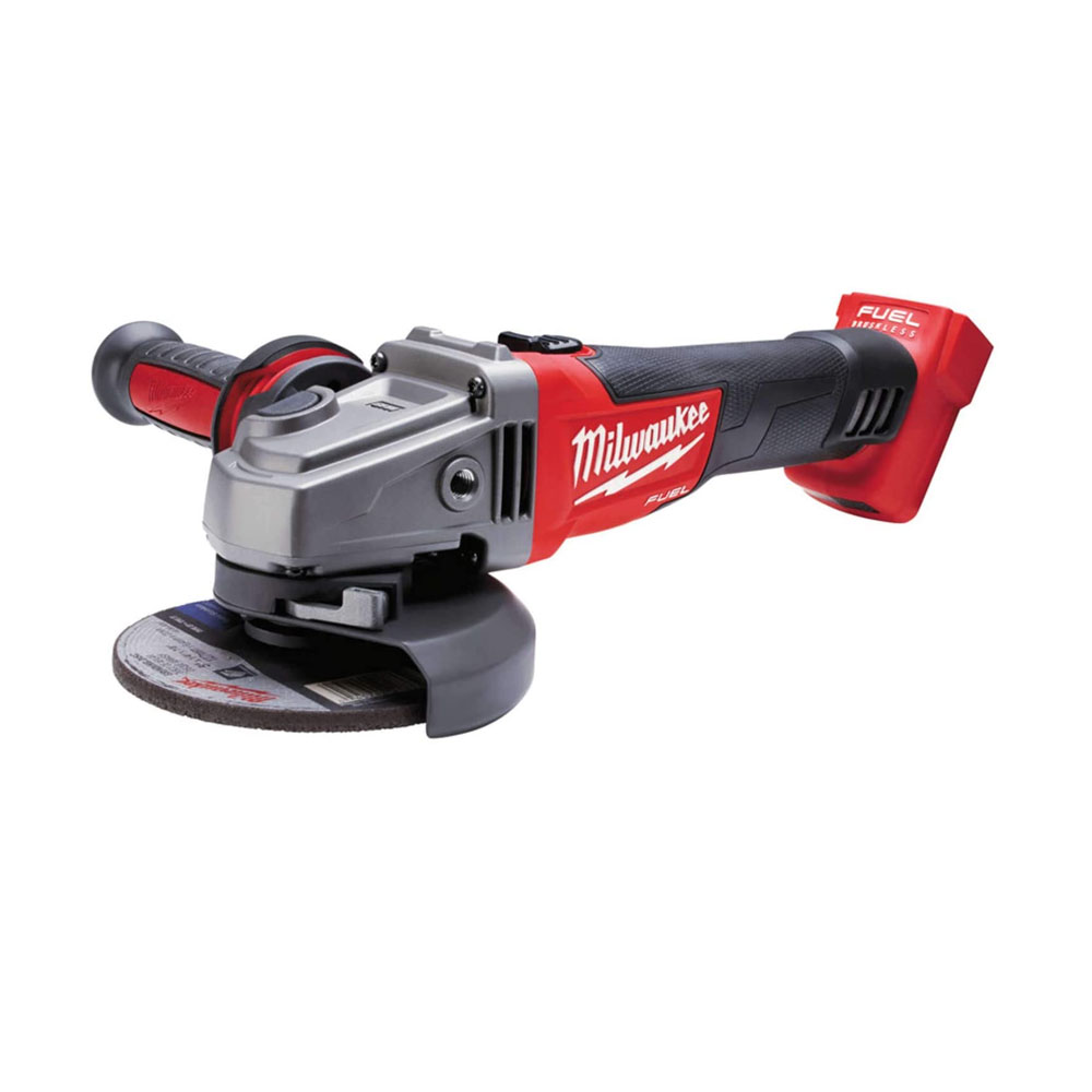 toptopdeal Milwaukee Battery Angle Grinder with CAG 125 M18 0-Version without Battery