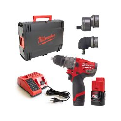toptopdeal-Milwaukee M12 FPDXKIT-202X M12FPDXKIT-Set Impact Drill 12 V