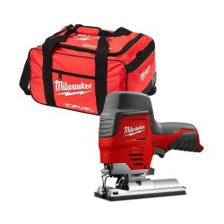 toptopdeal Milwaukee M12JS 12V Cordless Sub Compact Jigsaw with 19 inch Wheel Bag