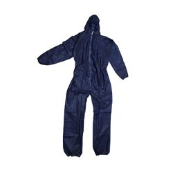 toptopdeal-PACKAGING AND DISPOSABLES Disposable Coveralls Overalls Boilersuit Hood Painters Protective Suit (Blue) (1, Small)