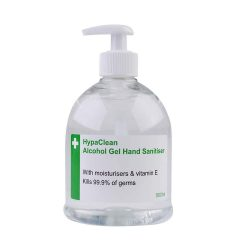 toptopdeal-Safety First Aid Group HypaClean Alcohol Hand Sanitiser Gel (500 ml)