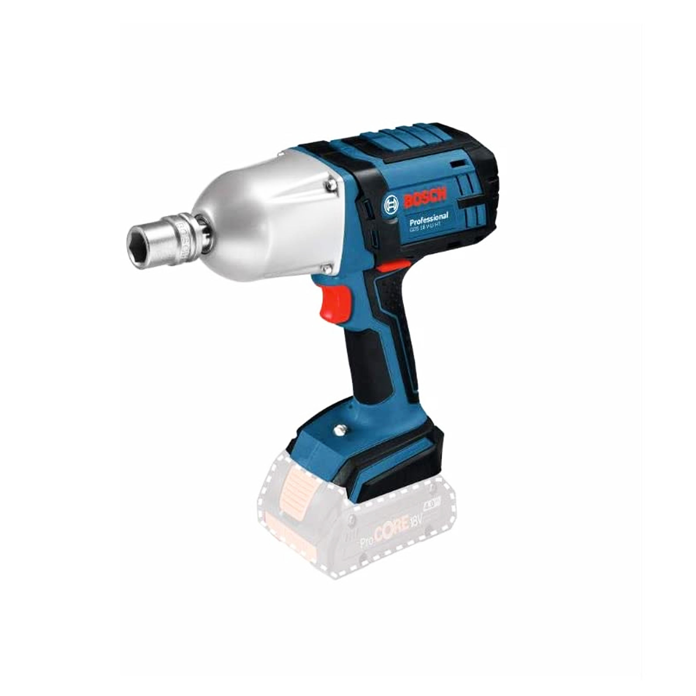toptopdeal-osch Professional GDS 18 V - LI HT Cordless Impact Wrench (without Battery and Charger) - Carton