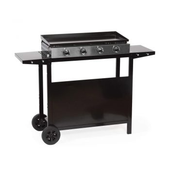 toptopdealBeneffito Cooker – Stainless Steel Gas Grill with Cart
