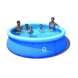 toptopdeal CClz Extra Large Round Blow Up Pool,Full-sized Inflatable Pools For Kids Parents,Easy Set Up Garden Swimming Pool,Summer Water Party-Blue 360x76cm