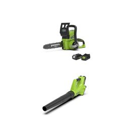 toptopdeal Greenworks 24V Cordless Chainsaw