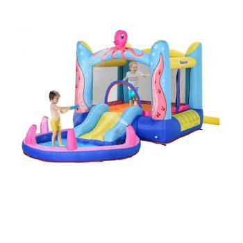 toptopdeal Outsunny Kids Bounce Castle House Inflatable Trampoline Slide Water Pool