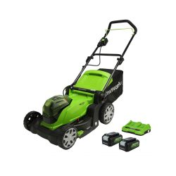 toptopdeal uk Greenworks Battery-Powered Lawnmower G24X2LM412x