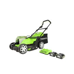 toptopdeal uk Greenworks Tools Battery Mower G24X2LM412x