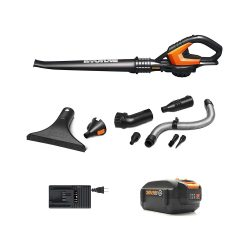 toptopdeal uk WORX Cordless Blower, Black, Hi-Capacity Battery Included