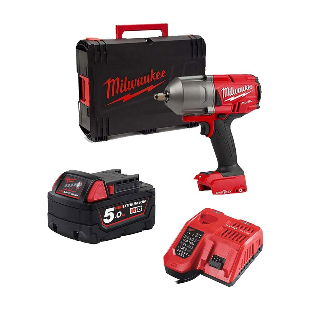 toptopdeal Milwaukee M18ONEFHIWF12-0 18v 1/2in Fuel ONE-Key Impact Wrench Friction Ring 5Ah