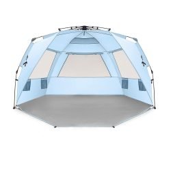 toptopdeal Easthills Outdoors Instant Shader Deluxe XL Easy Up 4 Person Beach Tent Sun Shelter - Extended Zippered Porch Included
