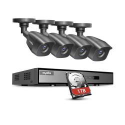 toptopdeal SANNCE 8 Channel 1080P Outdoor CCTV Camera System, 4pcs 1080P